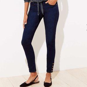 Loft Slim Jeans with Button Detail